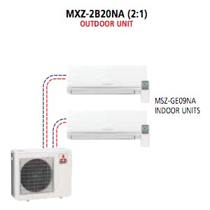 Mitsubishi - Mr Slim Multi Split System MXZ-2B20NA