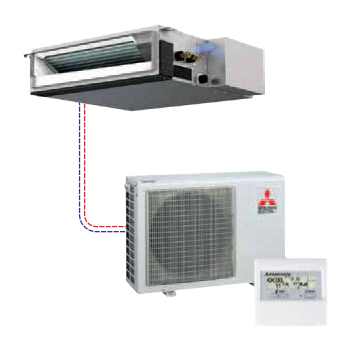 Mitsubishi - Mr Slim Single Ceiling-Concealed Split System Heat Pump SEZ-KD09NA