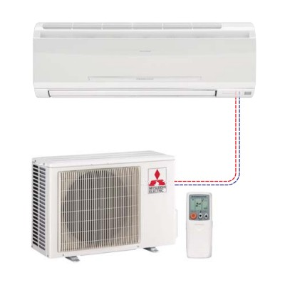 Mitsubishi - Mr Slim Single Ductless Split System MS-A09WA