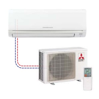 Mitsubishi - Mr Slim Single Ductless Split System MSY-GE09NA