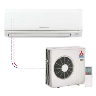 Mitsubishi - Mr Slim Single Ductless Split System MSY-GE18NA