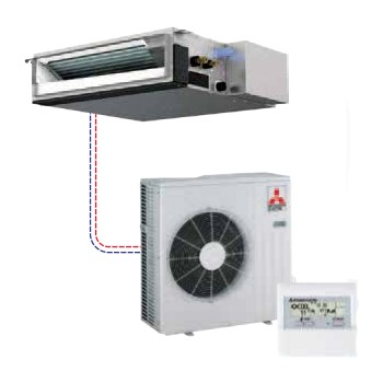 Mitsubishi - Mr Slim Single Ducted Style Ceiling-Concealed Split System Heat Pump SEZ-KD18NA